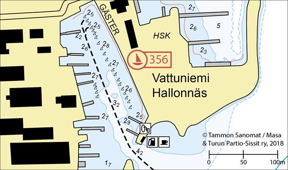 HSK:n vieraspaikat ja eteläallas