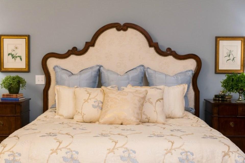 Custom upholstered bed