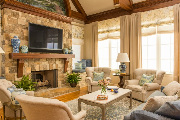 French country family room Comfortable Family French Country Family Room Design Hgtvcom Interior Design Advice How To Place Tv In Room hoskins
