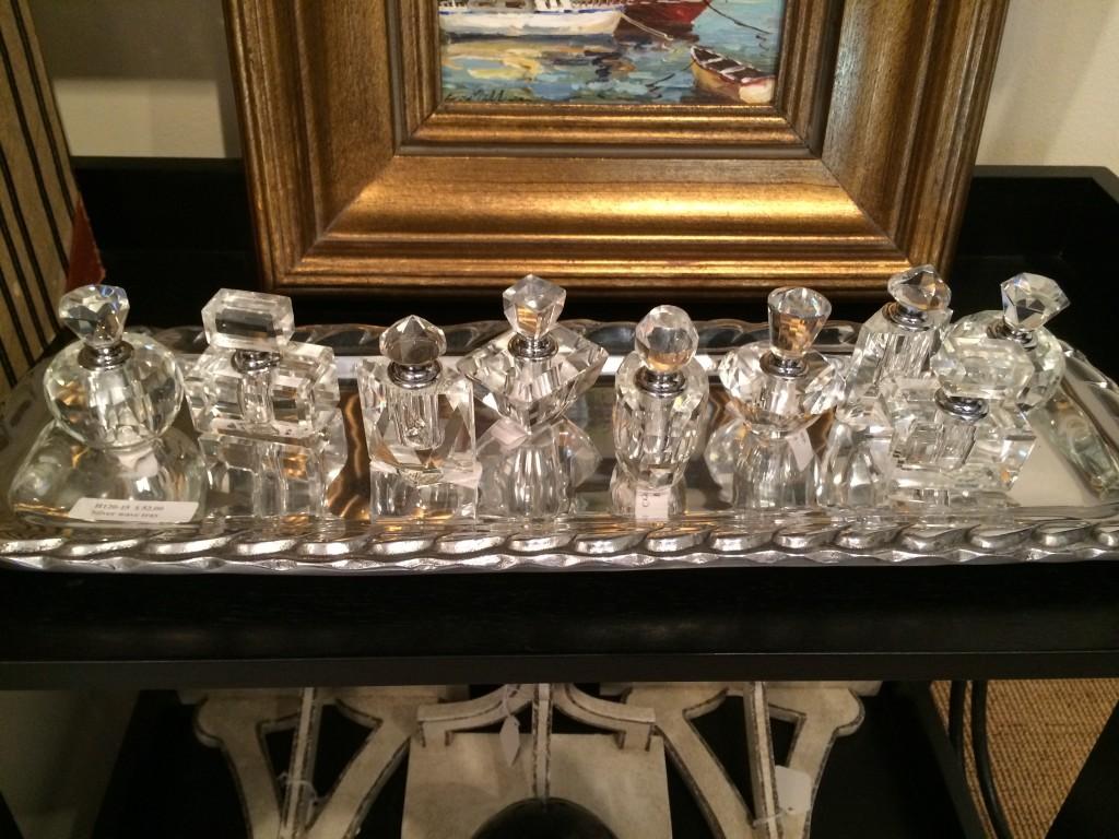little glass bottles