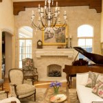French Country living room design