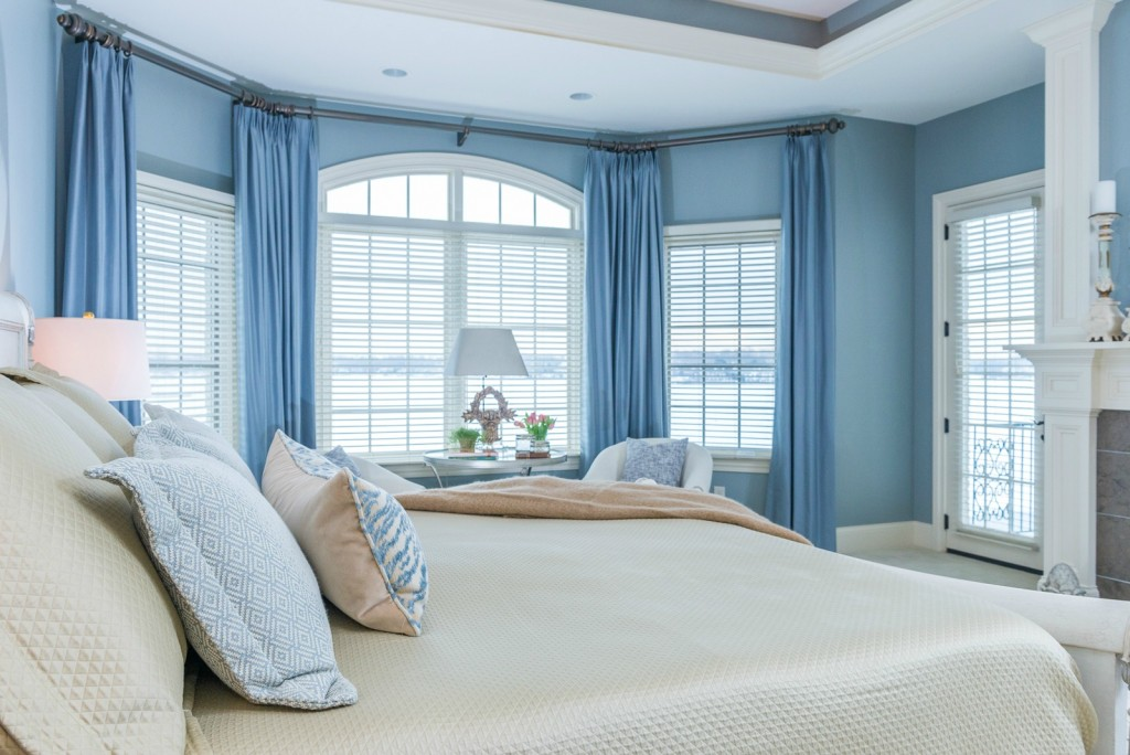 Blue Master Bedroom serene master bedroom design project |hoskins interior design