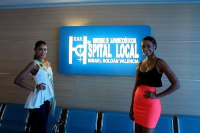 Visita Andrea Tovar Señorita Colombia y Lina Ochoa Exseñorita Choco