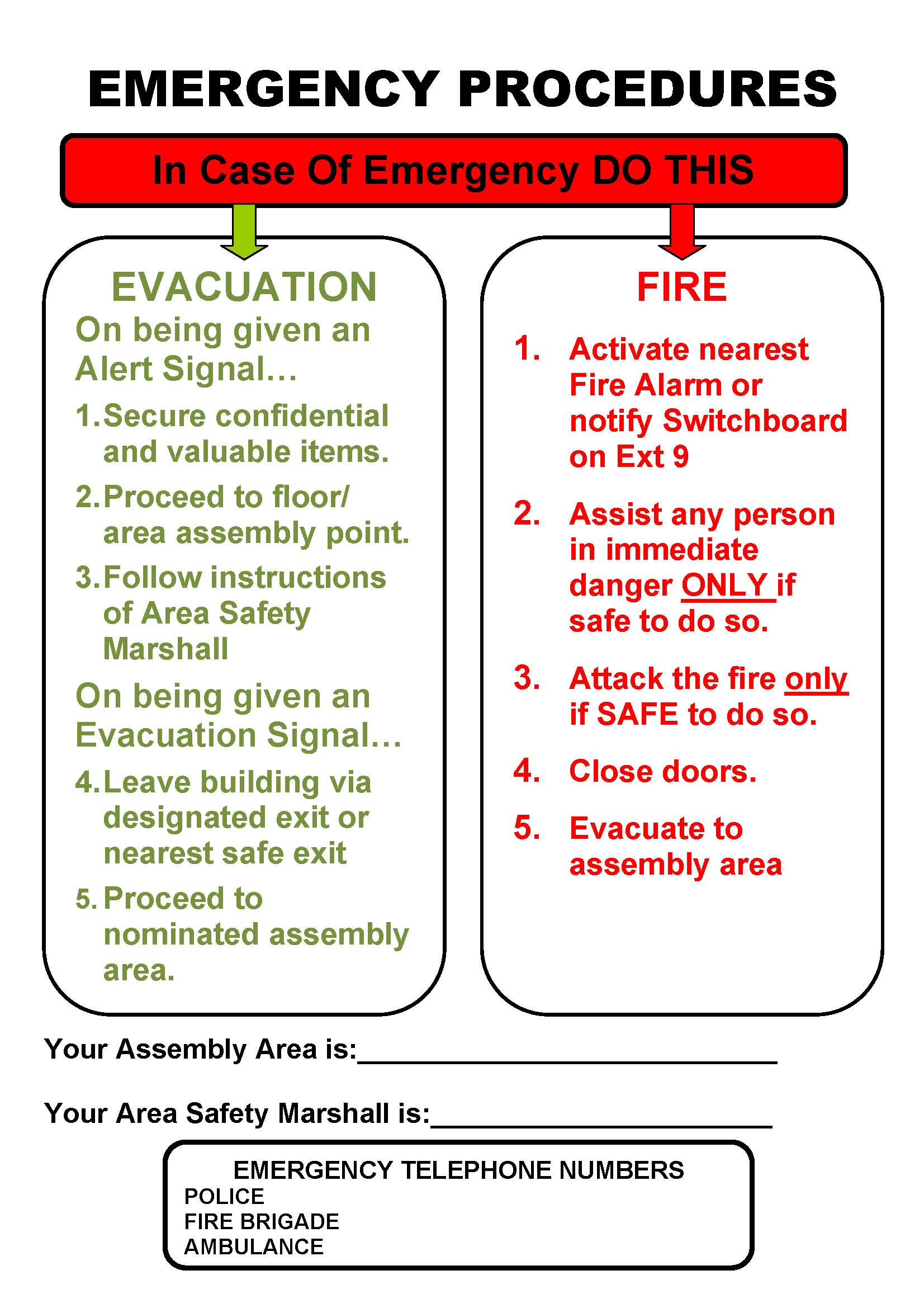 Photo home fire evacuation plan template images 100 for Fire evacuation procedure template free