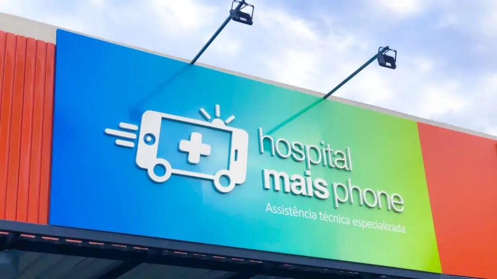 fachada de loja hospital mais phone
