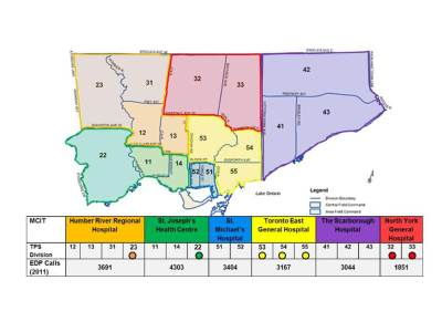 Journey from 10 to 17 MCIT divisions. Divisions with coloured circle were part of the spread of the city-wide project.