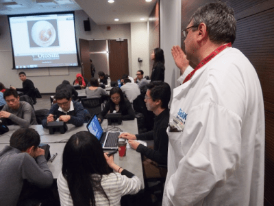 Dr. Vito Forte, a surgeon at Toronto's Hospital for Sick Children developed the OtoSim, an otoscopic training tools for students and medical professionals.