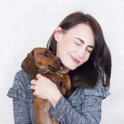 Mascota con su dueña