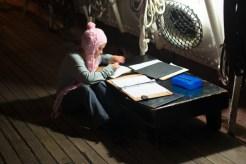 Nightwatch - Alexa writing her nightwatch account - Star of India 2015