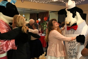 The Chick-fil-a cows kept the dance floor hopping all evening