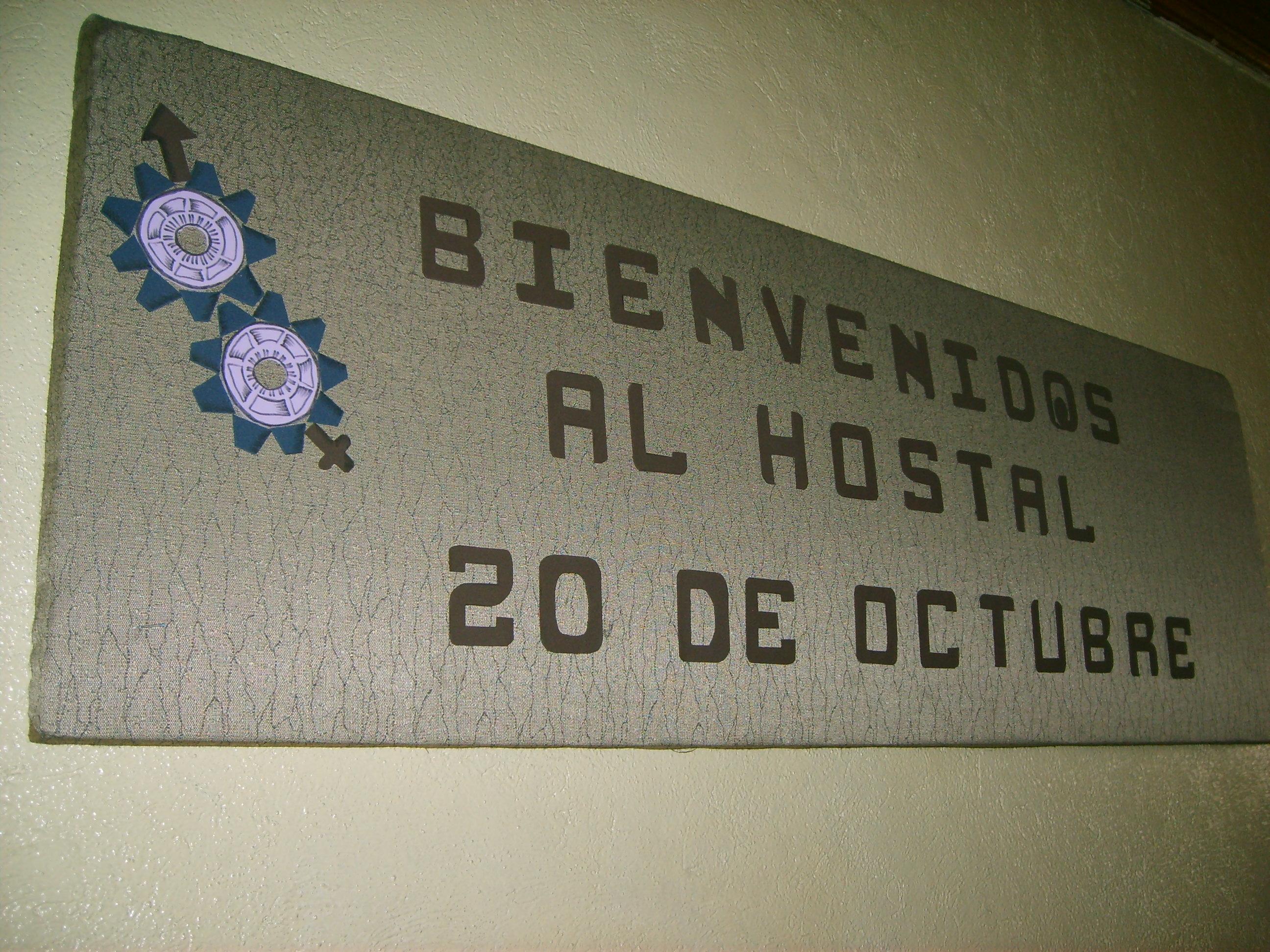 Bienvenidos al Hostal 20 de Octubre