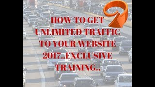 how to get unlimited traffic to your website2017.List Building Online Traffic That Works Retargeting