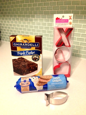 Step 1: You can use sugar cookie dough or brownie mix.