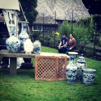 Blue and White porcelain at the East Hampton Antique Show