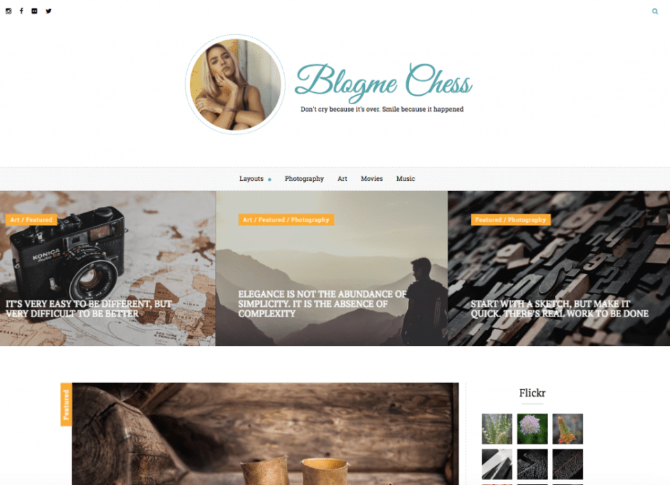 Blogme Custom WordPress Theme