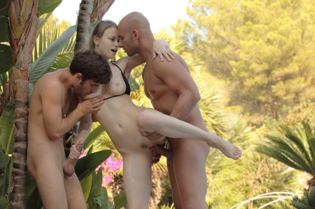 X-Art - Beatrice Logan Pablo in Two Boys and a Girl photos album