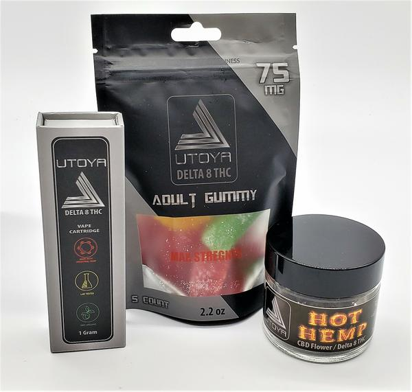 Best Black Friday Delta 8 THC Deals: Try Delta 8 bundle: 1 gram Vape, MAX Strength 75 mg Candy and 1/8 Hot Hemp
