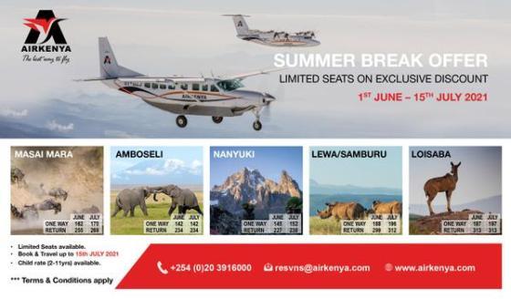 Airkenya promotional fares 2021