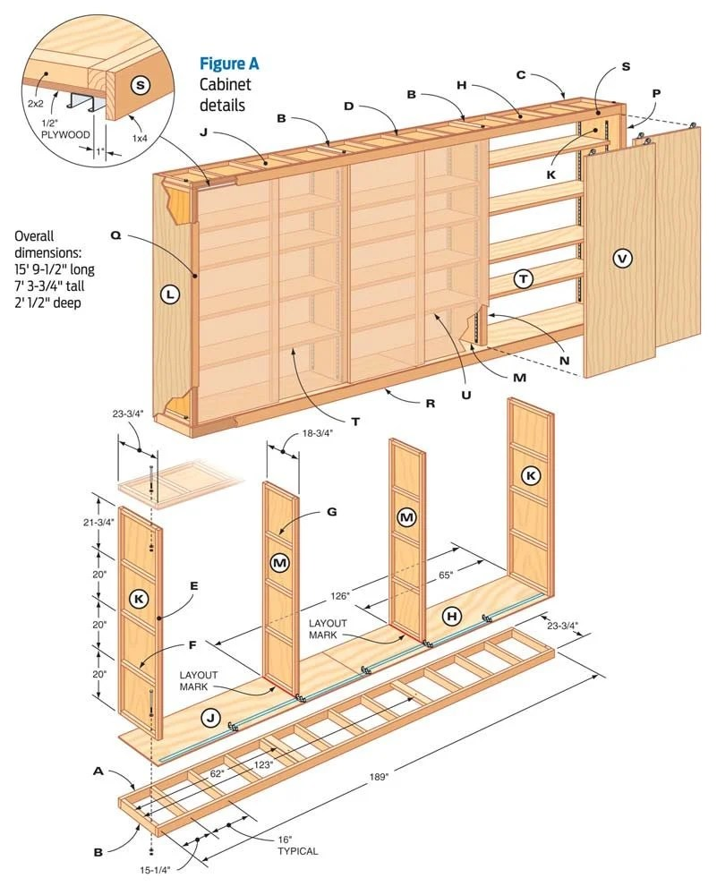 Making Garage Building Plans: How To Build Make Garage Cabinets Plans Woodworking Wood