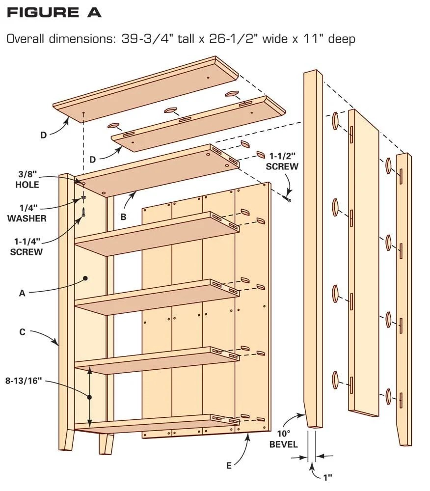 simple small bookshelf plans