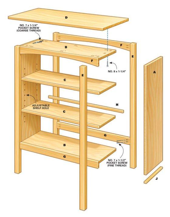 Craftsman Style Bookcase