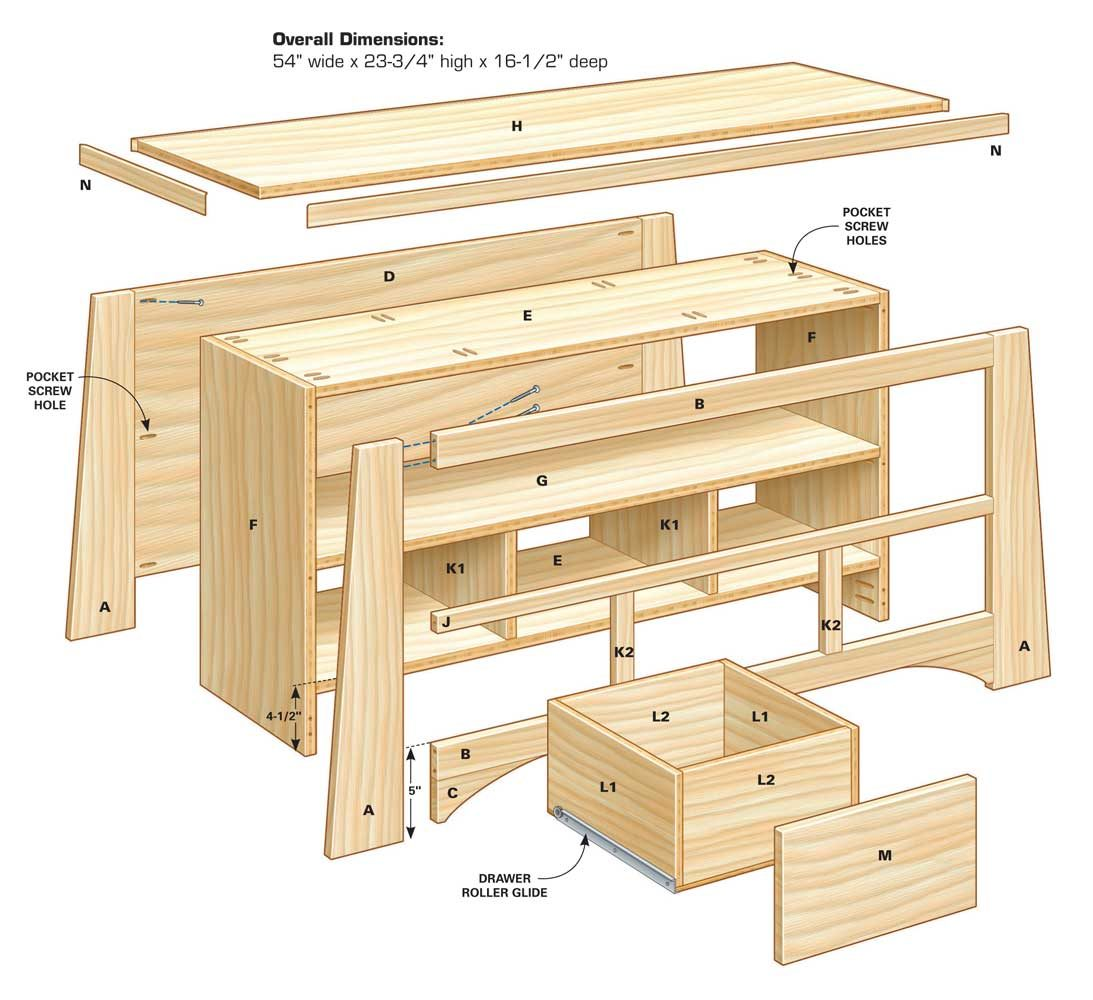 plans tv stand