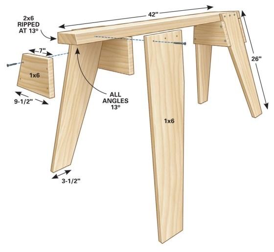 Plywood Sawhorse Plans