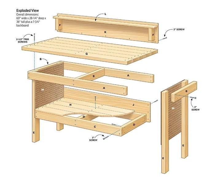 diy workbench plans
