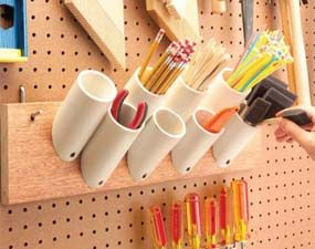 Short PVC pieces keep things organized