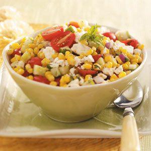 Corn salad dish