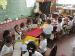 Reading in the classroom at Isidrillo