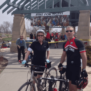 Biking for a worthy cause