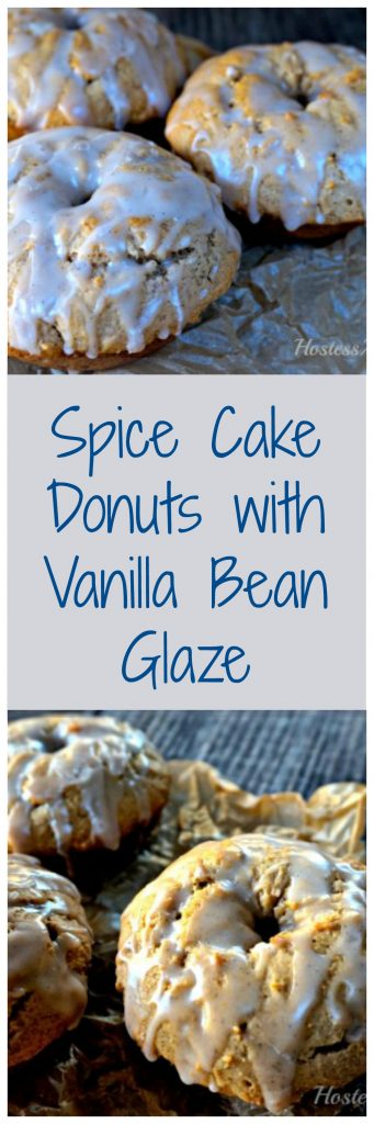 Spice Cake Donuts with Vanilla Bean Glaze are just delicious. Best of all they are baked and don't require yeast so you can make them in a jiffy! | HostessAtHeart.com