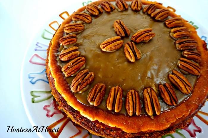 Pumpkin Pecan Cheesecake - HostessAtHeart