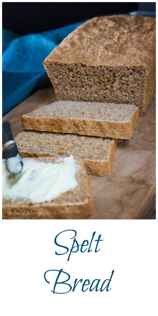 Spelt Bread is an ancient grains flour. The sweet nutty flavor makes one delicious bead.