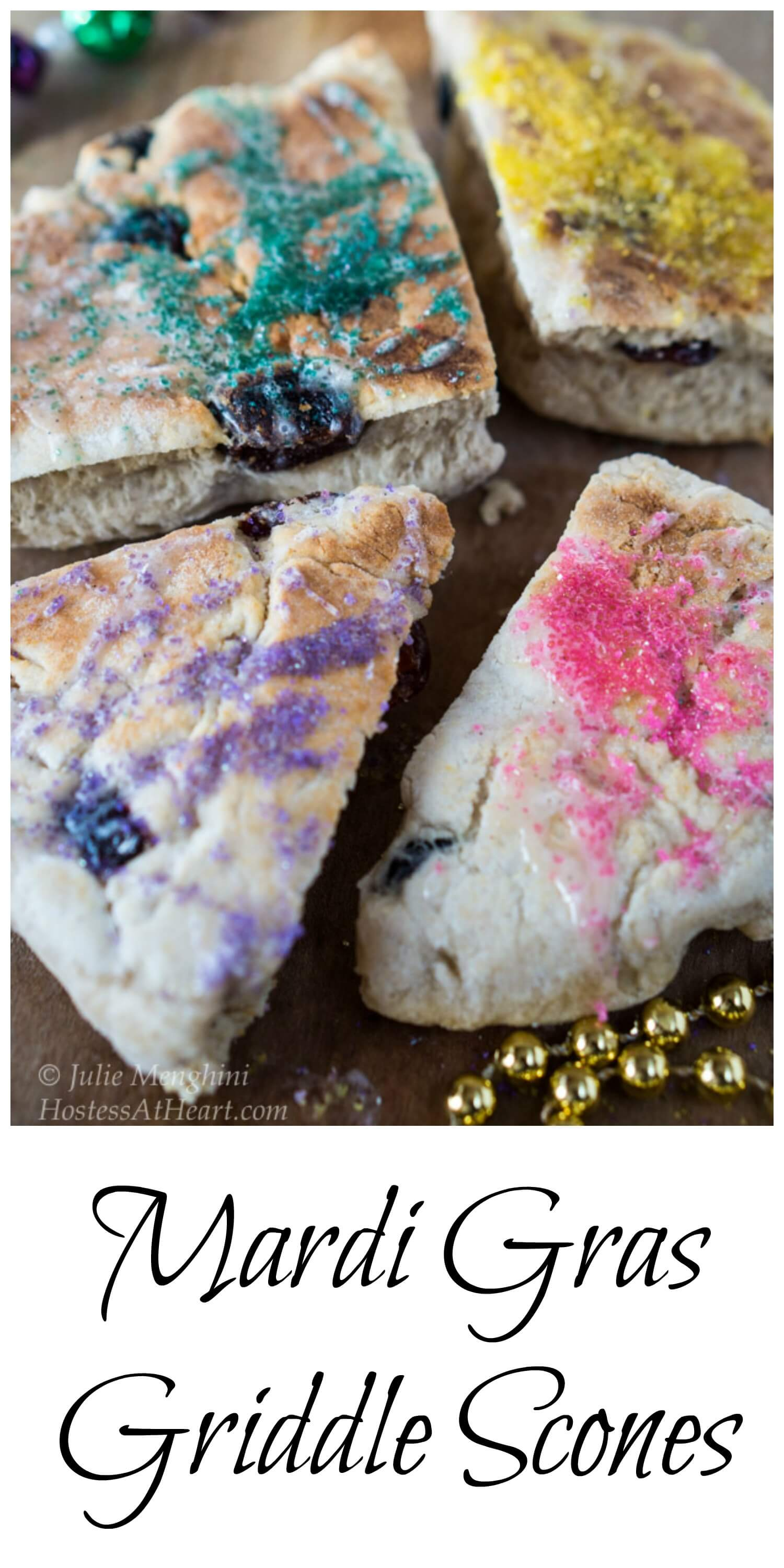 These Griddle Scones are quick, easy and delicious. They are just begging for a party or celebration and a little imagination! | HostessAtHeart.com