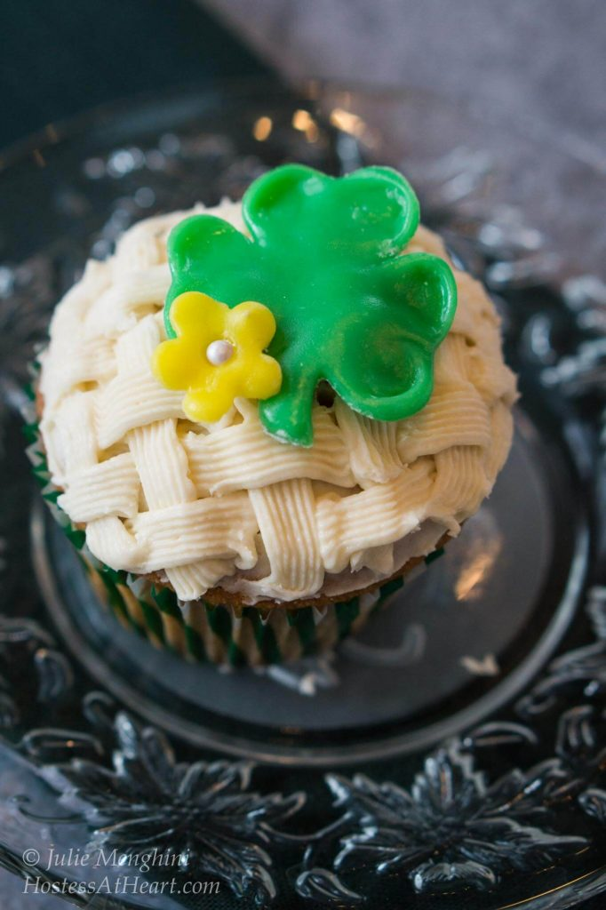 White Chocolate Irish Cream Cupcakes are moist, tender and delicious. They are the perfect recipe for any holiday or special occasion | HostessAtHeart.com