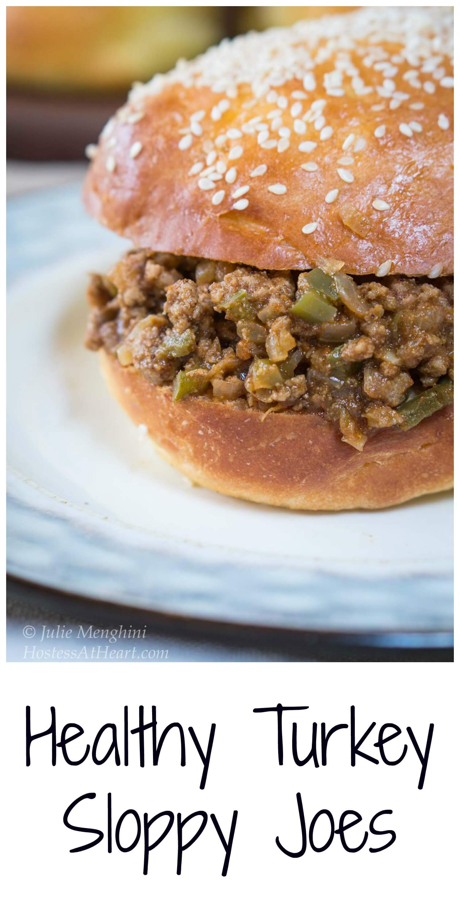 This Turkey Sloppy Joes recipe tastes better than the canned sloppy joes, is just as quick to put together, and no one will know that it's healthier too. #sloppy, #sloppyjoes, #healthy, #cookinglight, #healthyrecipes