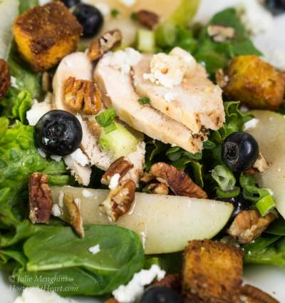 Chicken Pear Salad with Goat Cheese