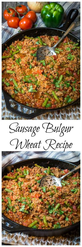Bulgur Wheat has a mild warm nutty flavor. It can be cooked right into your recipe in 20 minutes which makes it perfect for one-pan meals | HostessAtHeart.com