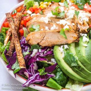 Chipotle Grilled Chicken Salad with Honey Jalapeno Vinaigrette