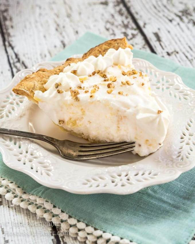 Angel Food Pie tastes like a pineapple cloud. It's creamy delicious and just melts in your mouth. The delicate pineapple flavor is like a warm sunny day.