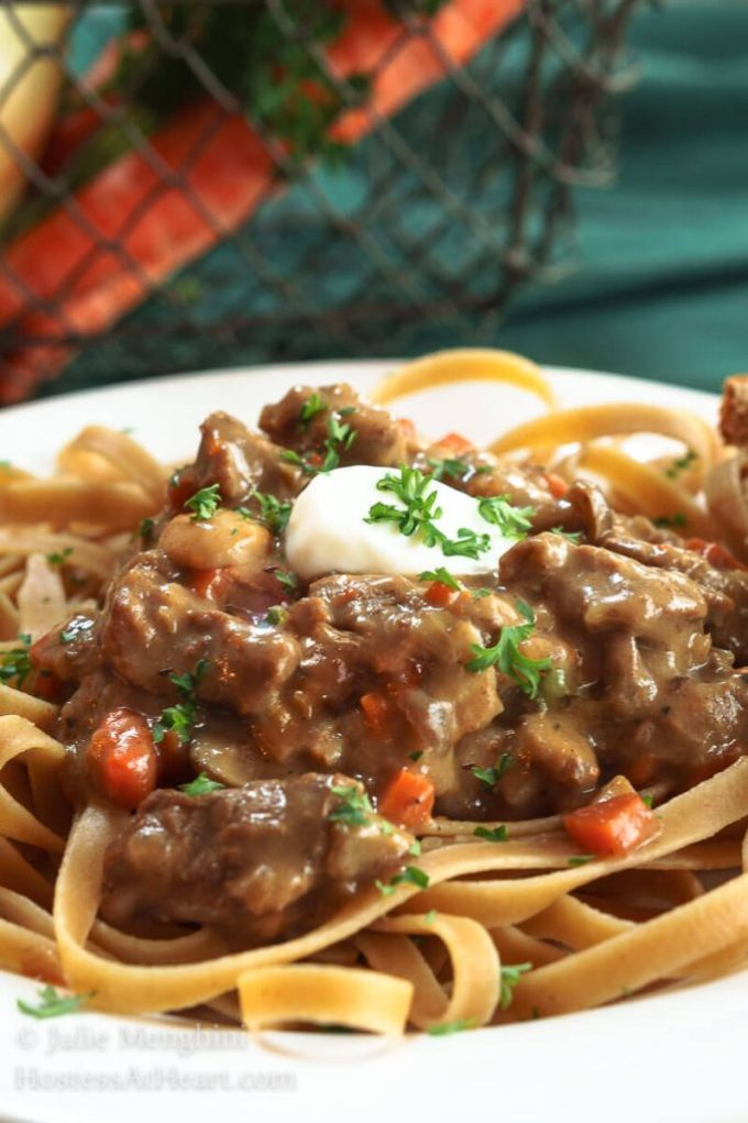 Healthier Beef Stroganoff Recipe Hostess At Heart