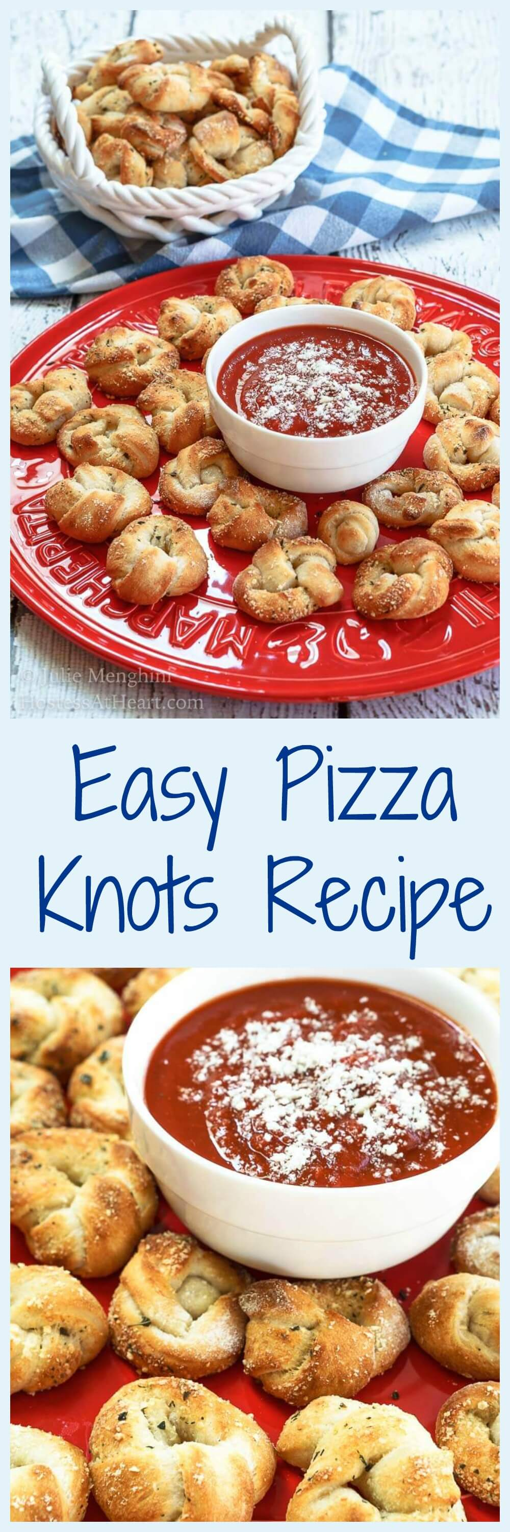 Easy pizza knots recipe video hostess at heart this easy pizza knots recipe makes the perfect finger food appetizer for your next party forumfinder Choice Image