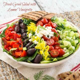 Fresh Greek Salad With Lemon Vinaigrette