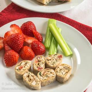 Healthy Whole Grain Chicken Wraps and Pinwheels