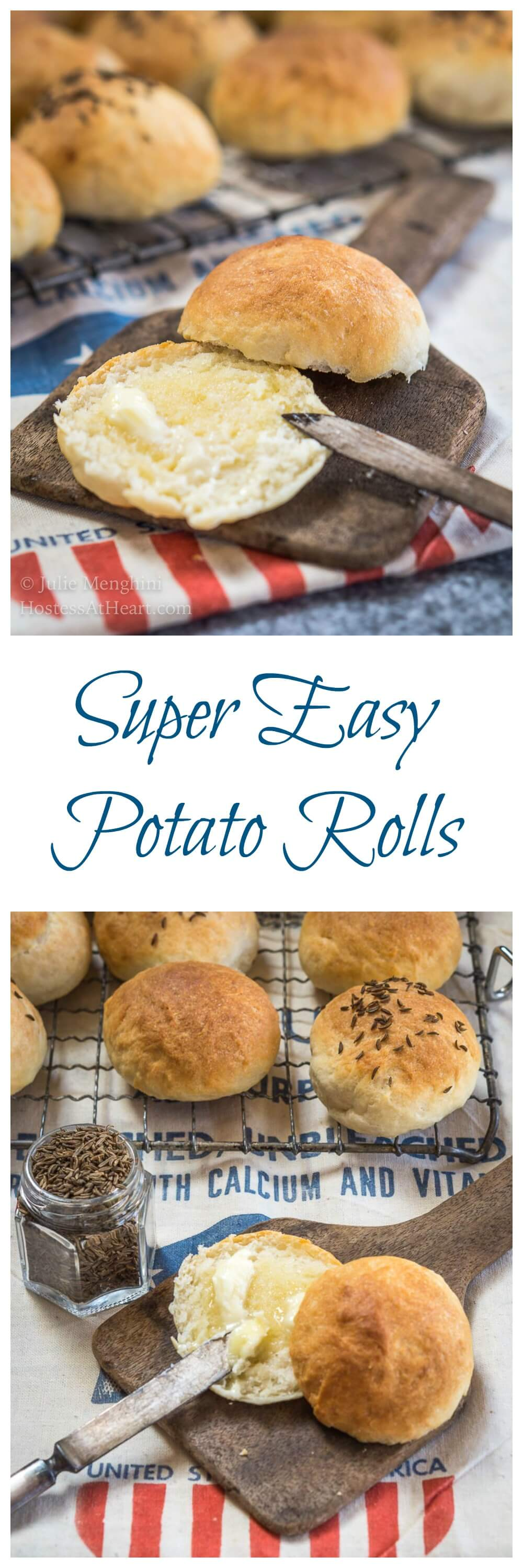 This Super Easy Potato Roll Recipe make a soft and slightly sweet roll that's perfect for dinner, hamburger or even slider buns! #Homemade #Breadmaking #HomemadeBread | Easy Homemade Bread | Homemade Bread Rolls | Comfortfood