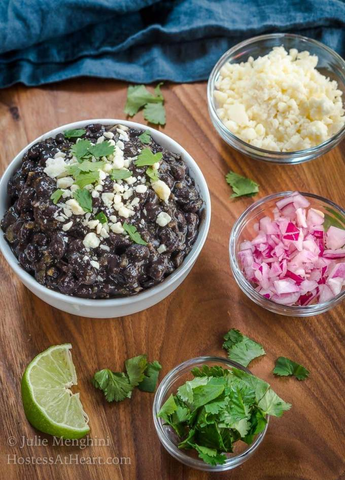 Quick and Easy Black Bean Recipe skimps on time but never on flavor. They're restaurant quality at home! | HostessAtHeart.com