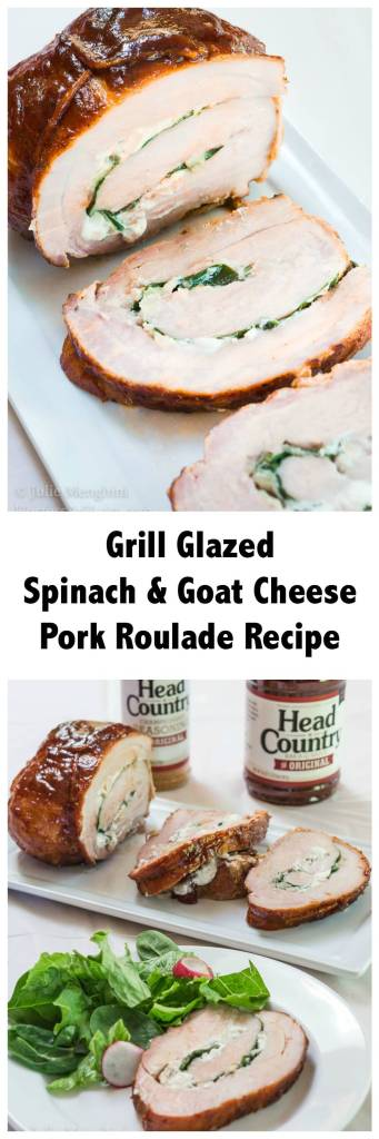 Grill Glazed Spinach and Goat Cheese Pork Roulade Recipe ...