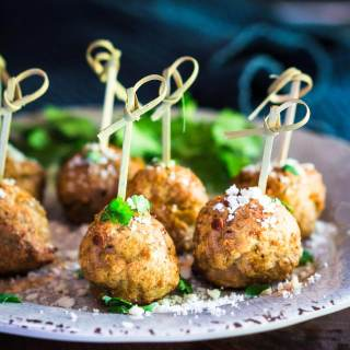 Baked Turkey Meatballs with Green Chiles Recipe